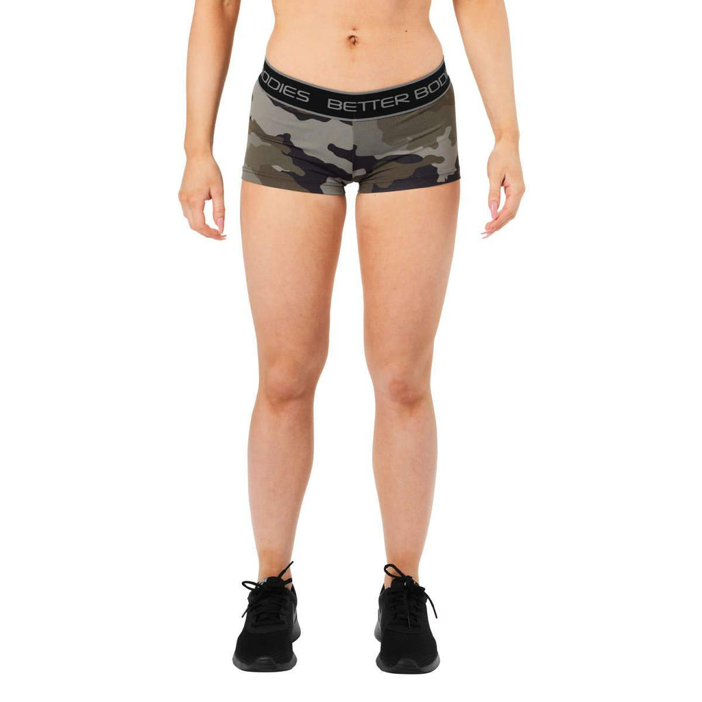 Better Bodies shorts, green camo