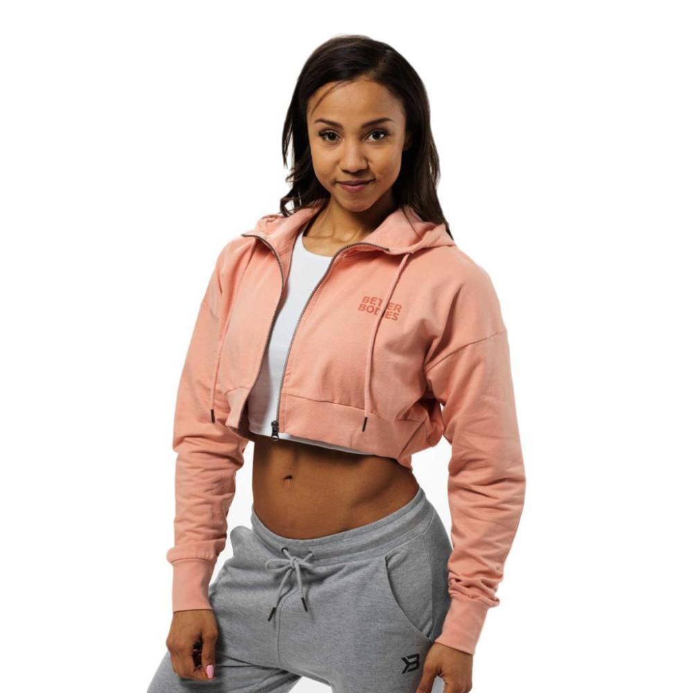 Better Bodies Astoria cropped hood peach beige