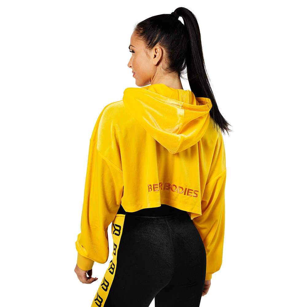 Better Bodies Chrystie Cropped Hood, yellow