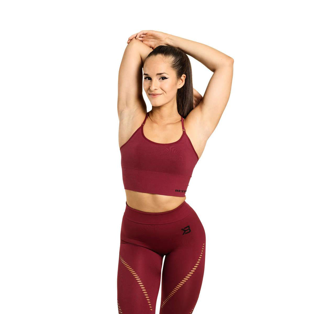 Better Bodies Astoria Seamless Bra, Sangria red