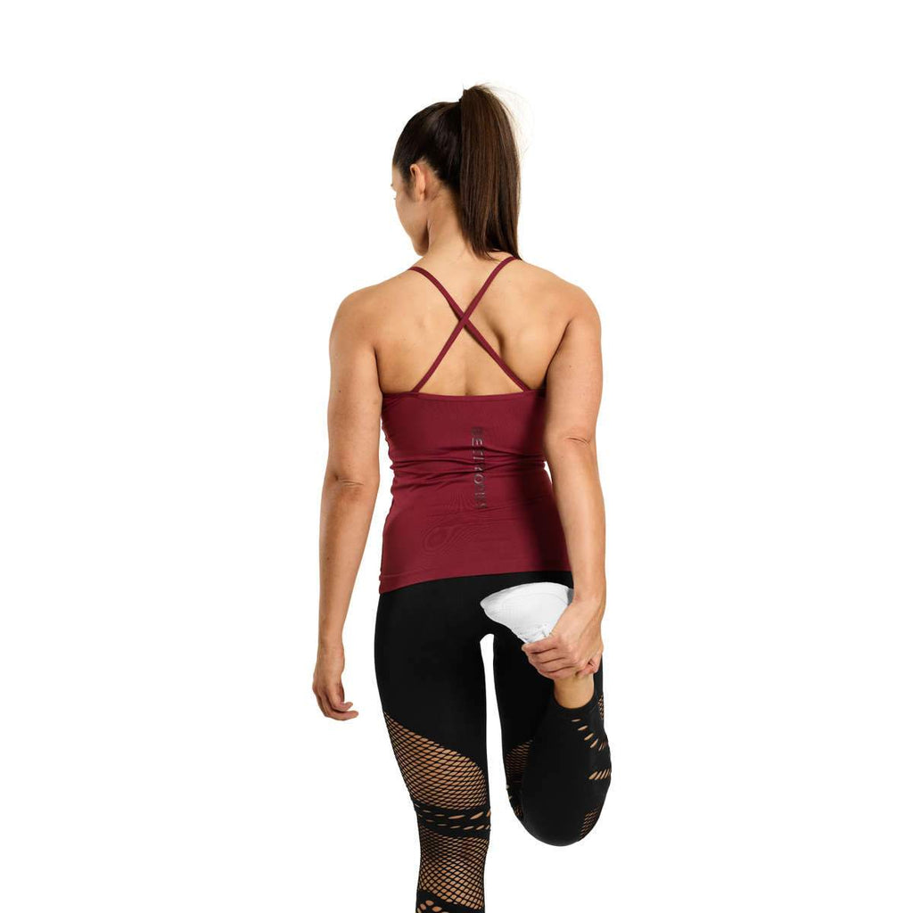 Better Bodies Waverly Strap Top, Sangria Red