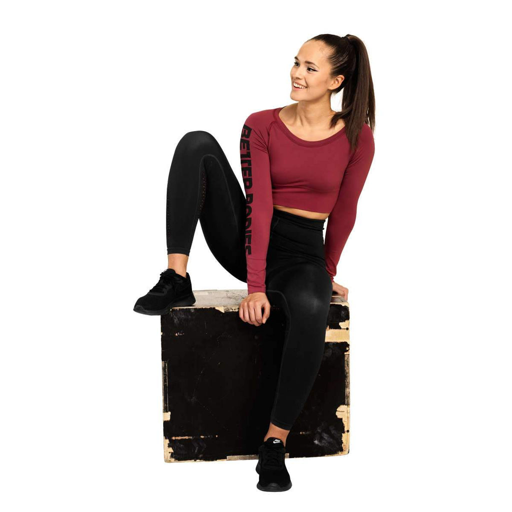 Better Bodies Bowery Cropped Seamless Long Sleeve Top