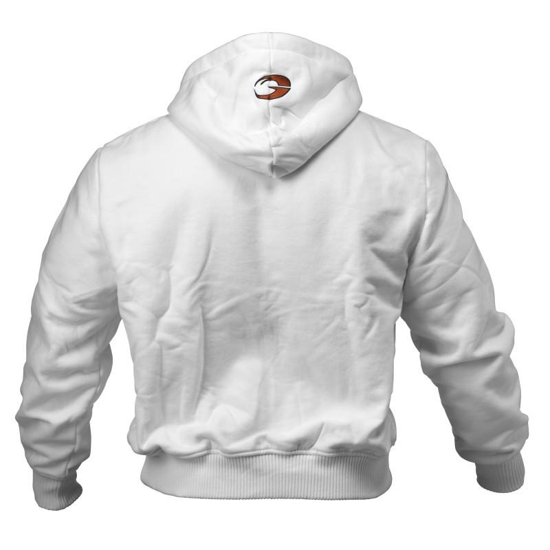 GASP 1.2 LBS MEN'S ZIP UP HOODIE white