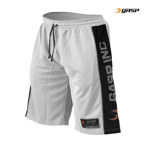 GASP Men's No1 Mesh Short, white/black