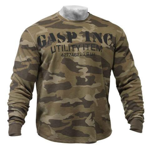 Gasp Long Sleeve Thermal Sweater green camo