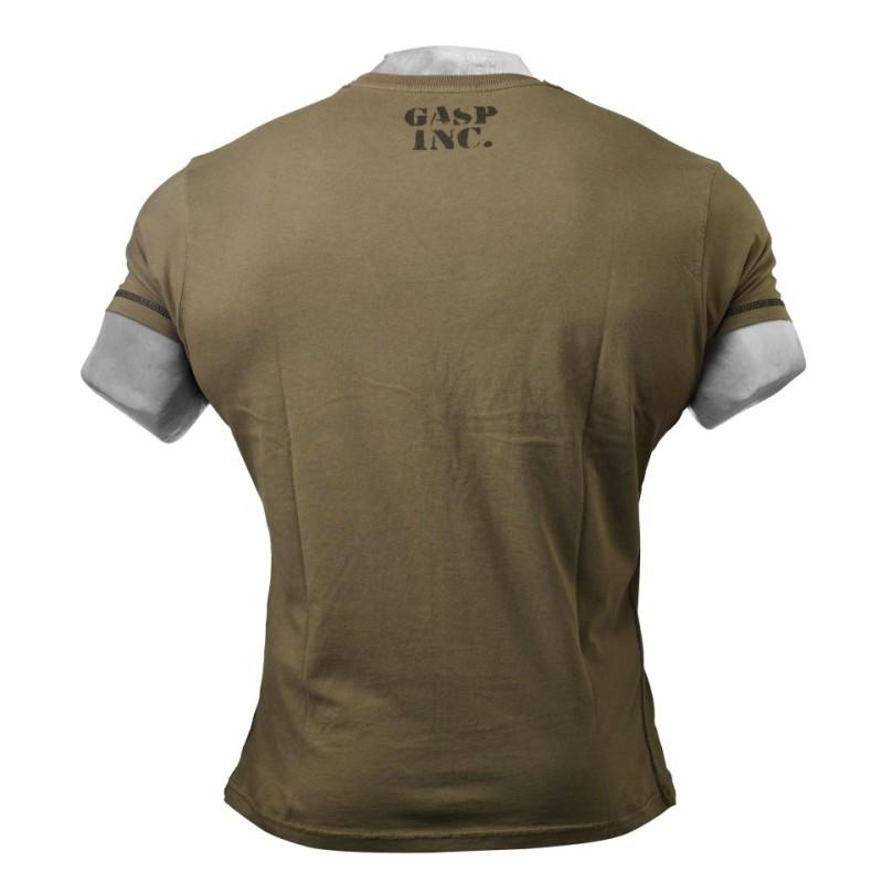 Gasp Men's Basic Utility Tee  wash green back