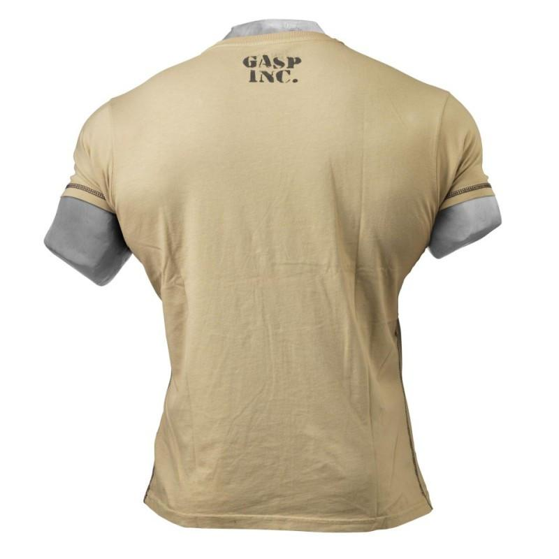 Gasp Men's Basic Utility Tee  desert back