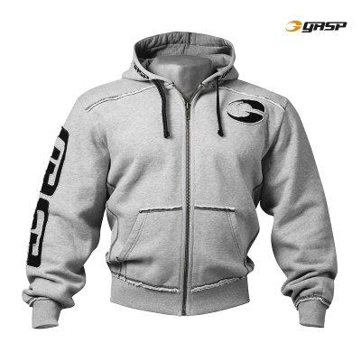 Gasp PRO Gym Hood Jacket Grey melange