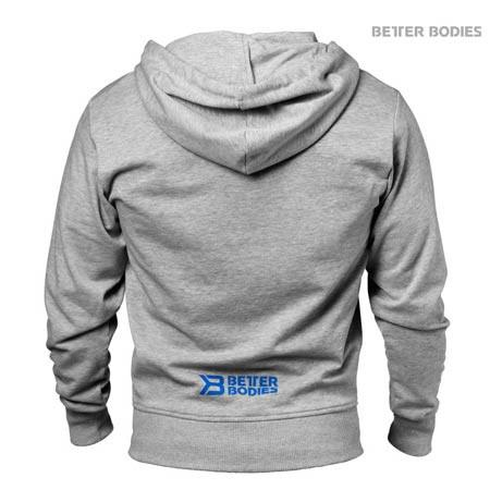 Grey Better Bodies Men's Jersey Hoodie