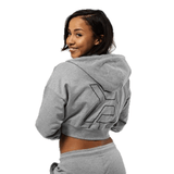 Better Bodies Astoria cropped hood grey melange