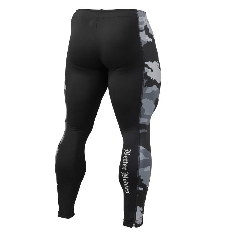 Better Bodies Men's Long Tights Black Camo