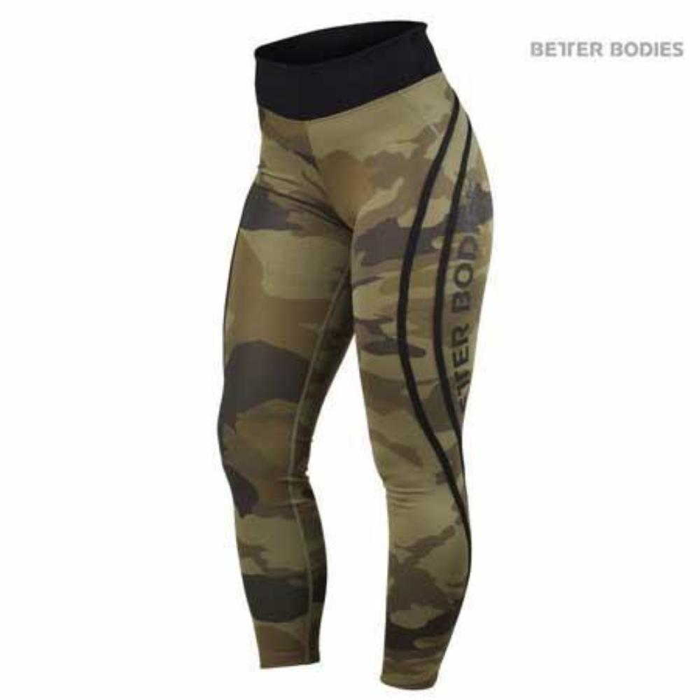 Better Bodies High Waist Camo Tights Green Camo