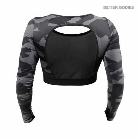 Better Bodies Chelsea Cropped Long Sleeve Top Camo