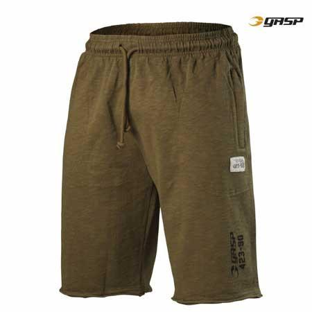 GASP THROW BACK SWEAT SHORTS Military Olive