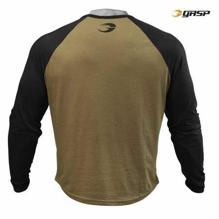 GASP Raglan Long Sleeve Tee Military Olive and Black