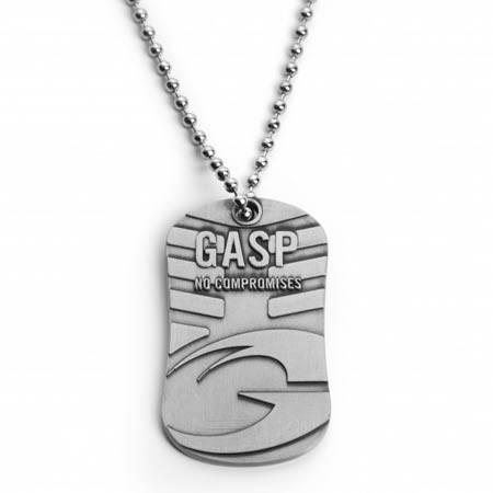 GASP STAINLESS STEEL TAG ON A CHAIN