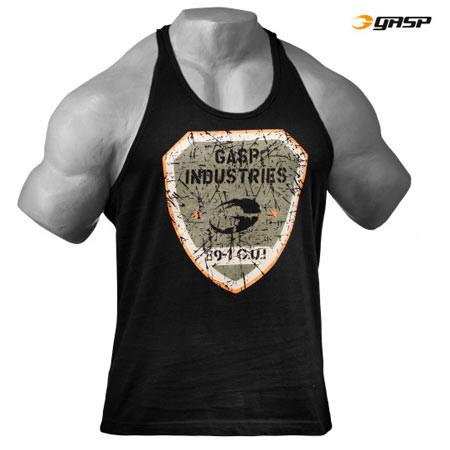 GASP Gym T-Back Tank Black