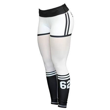 Six Deuce White Mesh-Tech X-Fit Fitness Leggings