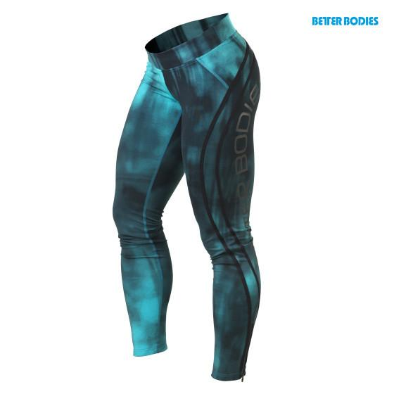 Better Bodies Grunge Tight Leggings in Aqua Blue