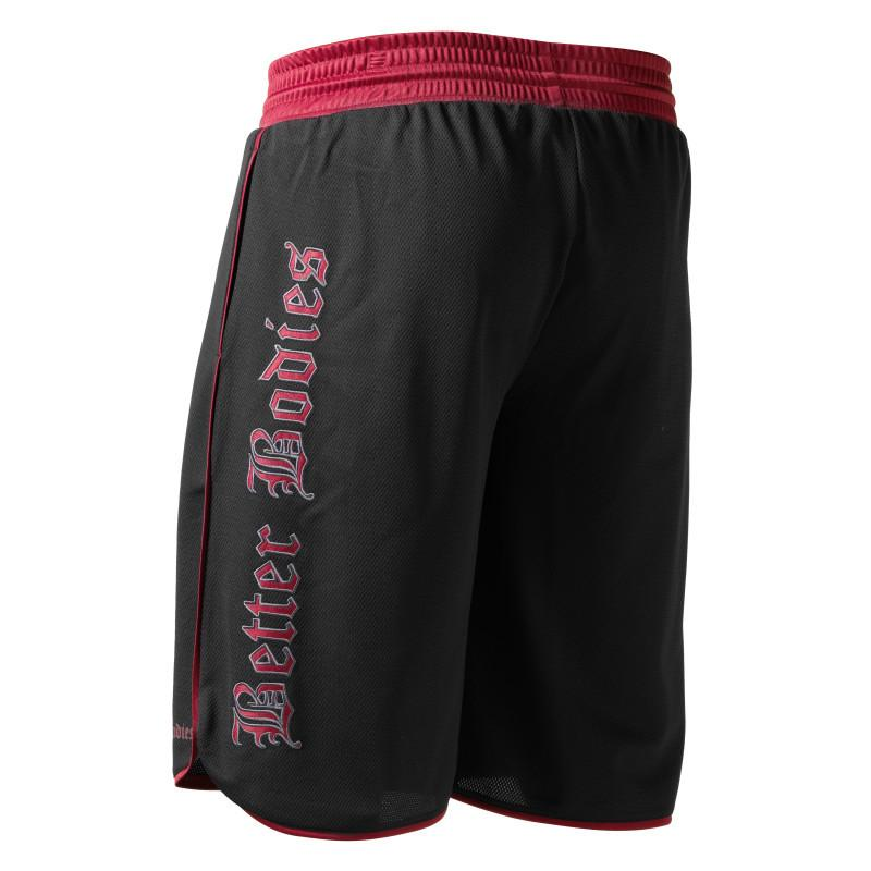Better Bodies Mesh Gym Shorts black red