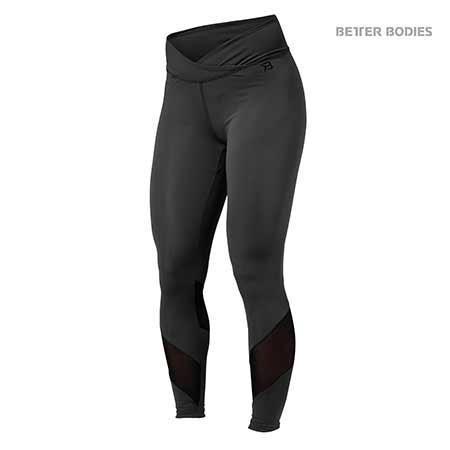 Better Bodies Wrap Tights Dark Grey