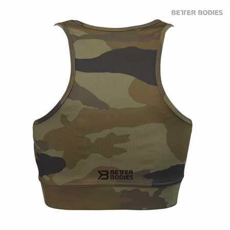 Better Bodies Chelsea Halter Top Green Camo