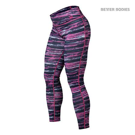 Better Bodies Printed Tights - Pink Black