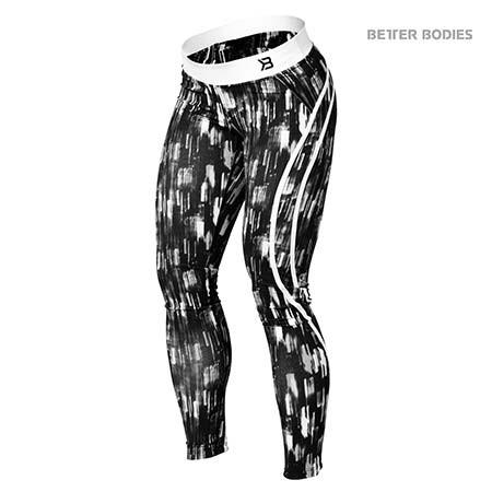 Better Bodies Manhattan Tights Black and White Print