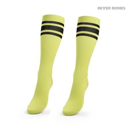Better Bodies Knee Socks  Lime