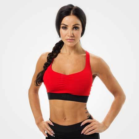 Better Bodies Athlete Short Top Red Black
