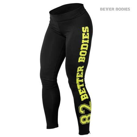 Better Bodies Varsity Tights Lime