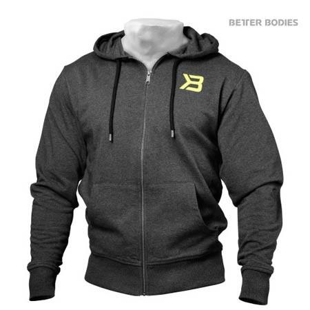 Dark Grey Better Bodies Men's Jersey Hoodie