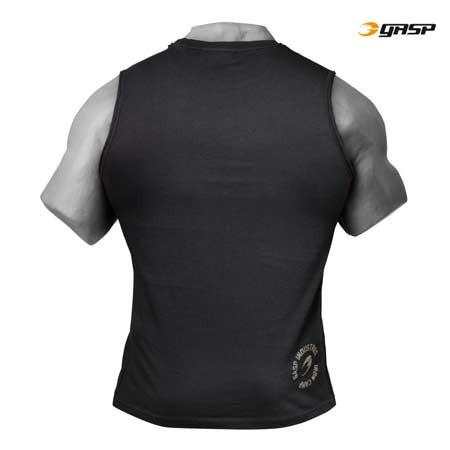 GASP THROW BACK SLEEVELESS TEE BLACK