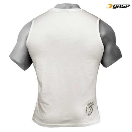 GASP THROW BACK SLEEVELESS TEE WHITE