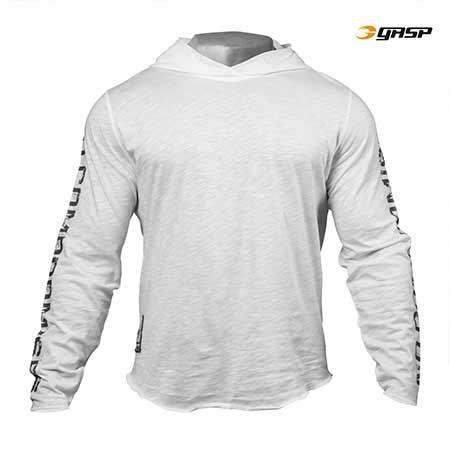 GASP NO COMPROMISE HOODIE WHITE