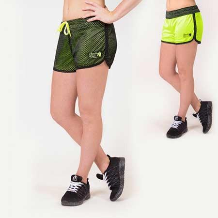 Gorilla Wear Women's Madison Reversible Shorts black and lime