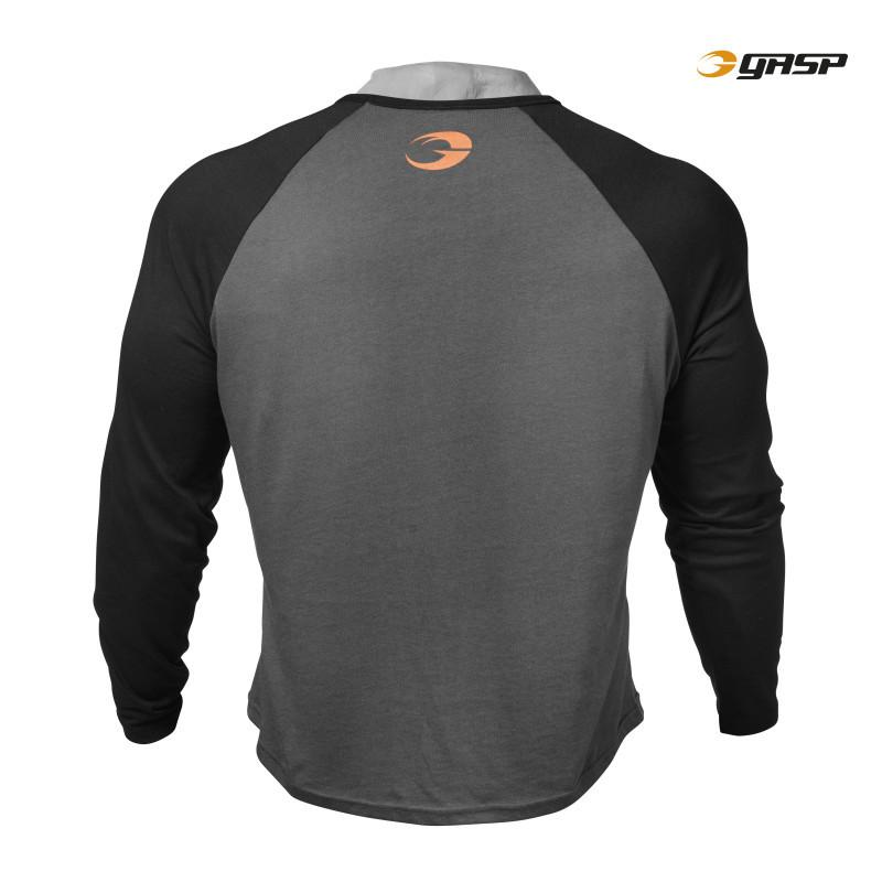 GASP Raglan Long Sleeve Tee dark grey