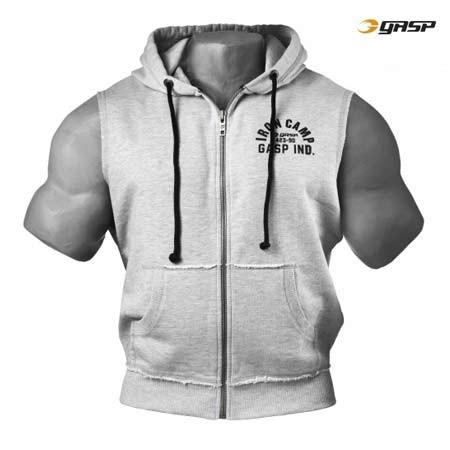 Gasp Throwback Sleeveless Zip Hoodie