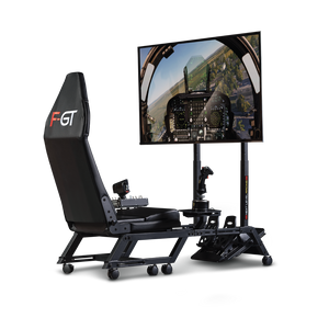 Next Level Racing F-GT Formula and GT Simulator Cockpit – Matte Black