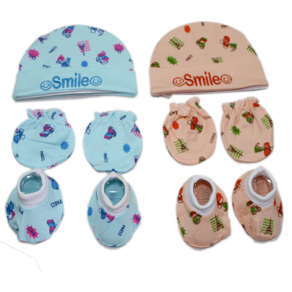 9309ea08b Dazzle Born baby Cap mitten set soft cotton caps booties and mittens Pack  of 2
