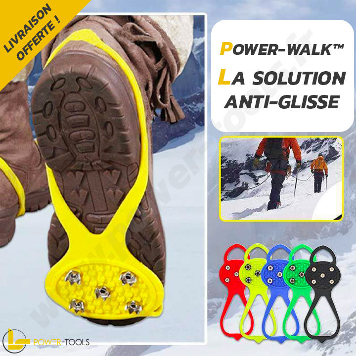 CRAMPONS ANTIDÉRAPANTS UNIVERSELS | POWER-WALK™ - 4 PAIRES