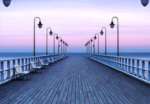 Wizard+Genius Pier at the Seaside Fotobehang 366x254cm