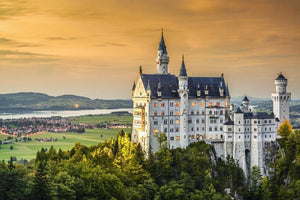 Papermoon Schloss Neuschwanstein Vlies Fotobehang 350x260cm | Yourdecoration.be