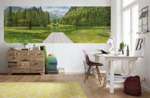 Komar Green Lake Fotobehang 368x127cm | Yourdecoration.be