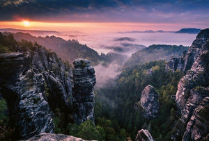 Wizard+Genius Sunrise on the Rocks Vlies Fotobehang 384x260cm 8-banen | Yourdecoration.be
