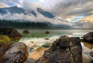Wizard+Genius Mountain Lake Vlies Fotobehang 384x260cm 8-banen | Yourdecoration.be