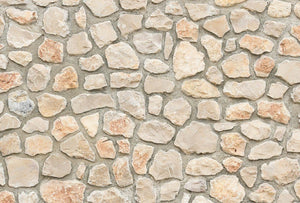 Wizard+Genius Natural Stone Wall I Vlies Fotobehang 384x260cm 8-banen | Yourdecoration.be