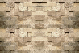 Wizard+Genius 3D Stone Wall Vlies Fotobehang 384x260cm 8-banen | Yourdecoration.be