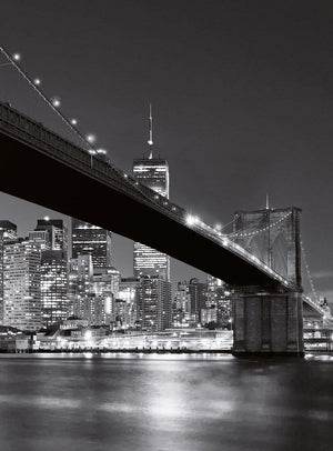 Wizard+Genius Brooklyn Bridge NY Vlies Fotobehang 192x260cm 4-banen | Yourdecoration.be