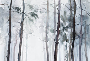 Wizard+Genius Watercolour Forest Vlies Fotobehang 384x260cm 8-banen | Yourdecoration.be